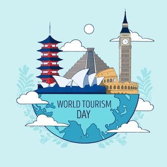 Ilustración del día del turismo