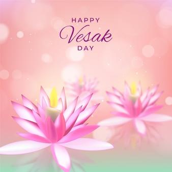 Ilustración del día de vesak borrosa