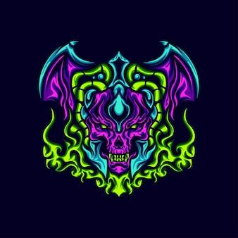 Ilustración diablo tóxico