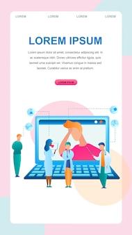 Ilustración diagnóstico en línea diagnóstico del paciente