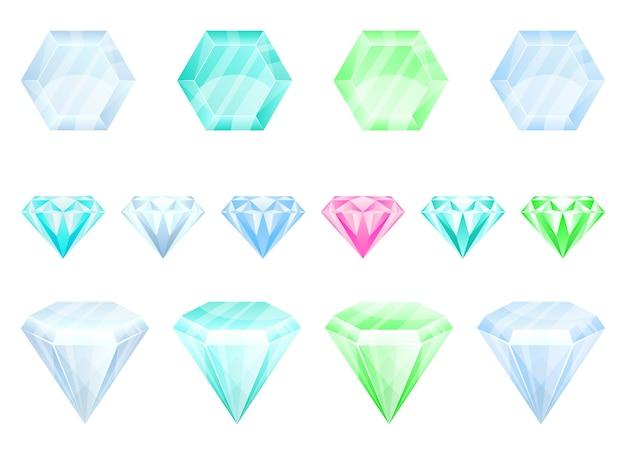 Ilustración de diamante aislado sobre fondo blanco
