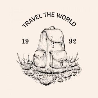 Ilustración dibujada a mano de aventura