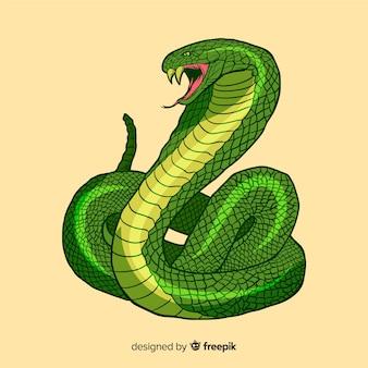 Ilustración dibujada a mano serpiente