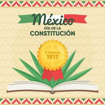 Ilustración de dibujado a mano del día de la constitución de méxico
