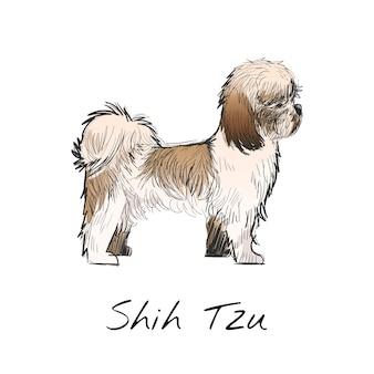 Ilustración de dibujo estilo de perro.