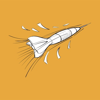 Ilustración de dibujo de mano del concepto objetivo de metas