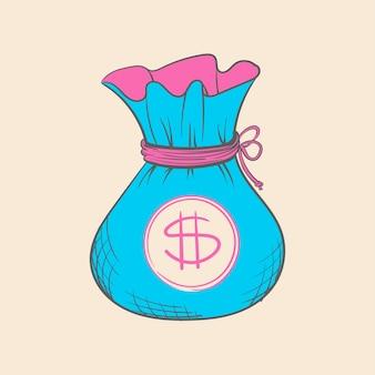 Ilustración de dibujo de mano de las finanzas en