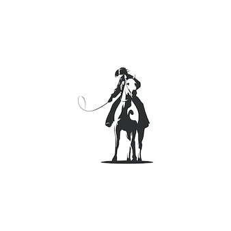 Ilustración de dibujo de vaquero aislado