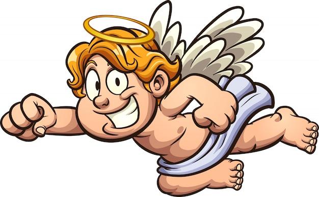 Ilustración de dibujos animados de ángel