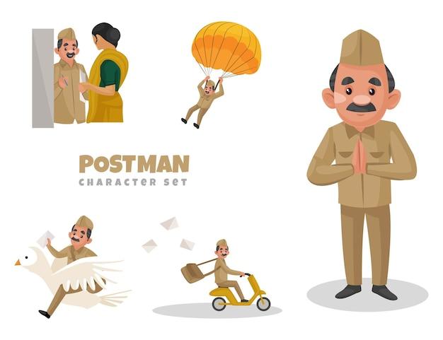 Ilustración de dibujos animados de cartero