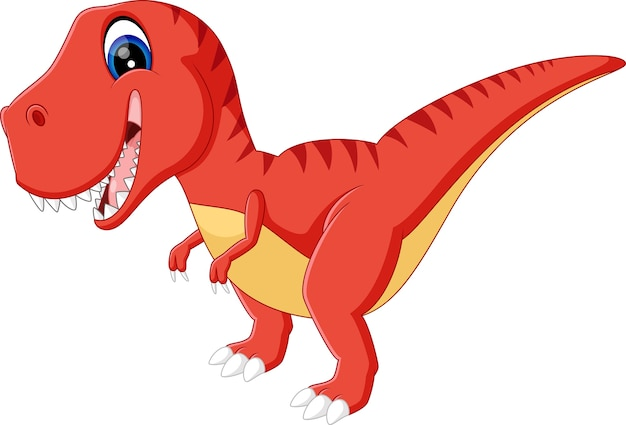 Ilustración de dibujos animados cute dinosurs