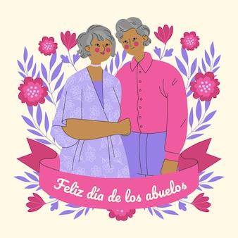 Ilustración de dibujos animados dia de los abuelos