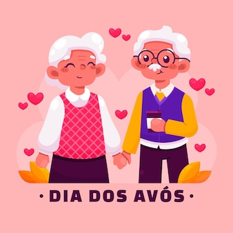 Ilustración de dibujos animados dia dos avos