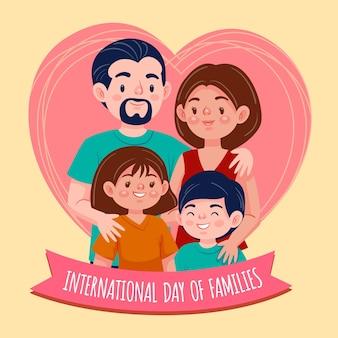 Ilustración de dibujos animados del día internacional de las familias