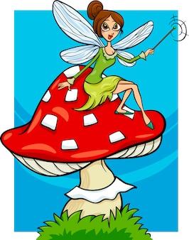 Ilustración de dibujos animados de hadas de duende de duende