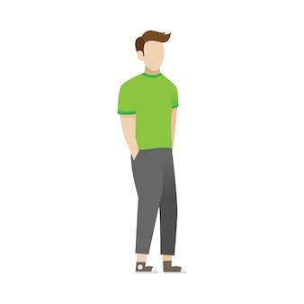 Ilustración de dibujos animados de un hombre joven
