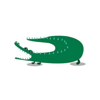 Ilustración de dibujos animados lindo cocodrilo wiid