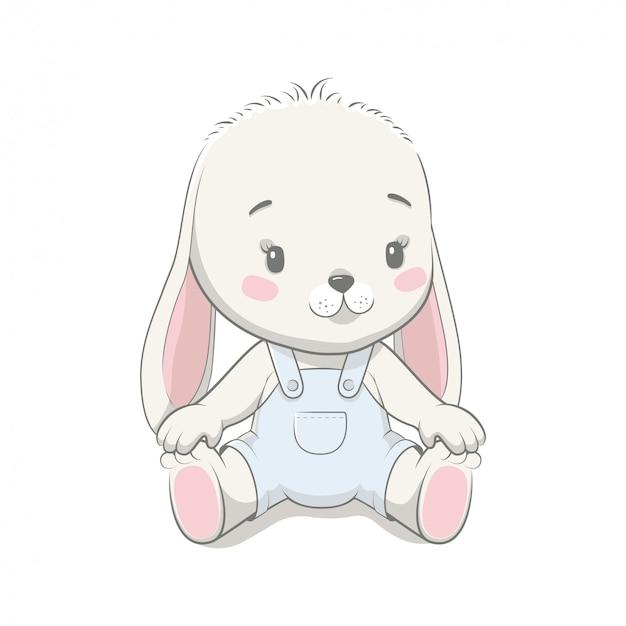 Ilustración de dibujos animados lindo conejito bebé