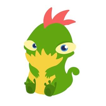 Ilustración de dibujos animados lindo pequeño monstruo