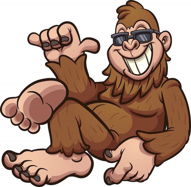 Ilustración de dibujos animados mono