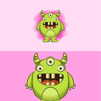 Ilustración de dibujos animados de monstruo
