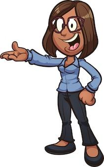Ilustración de dibujos animados de mujer de negocios