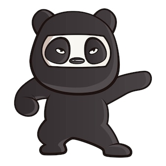 Ilustración de dibujos animados de panda.