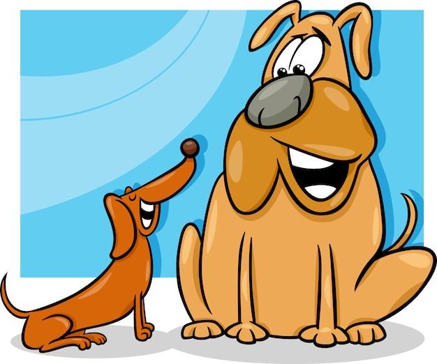 Ilustración de dibujos animados de perros parlantes