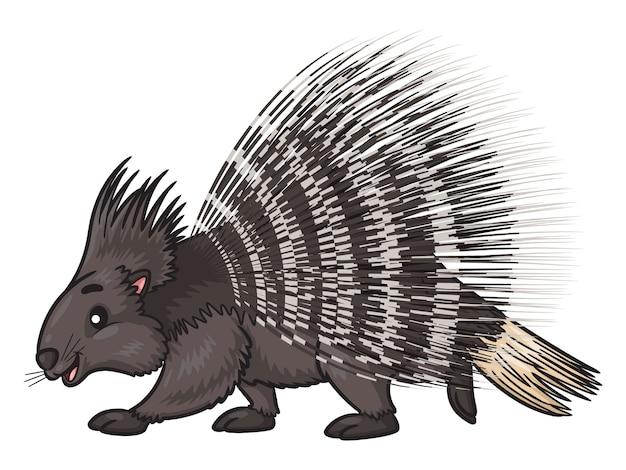 Ilustración de dibujos animados de puercoespín