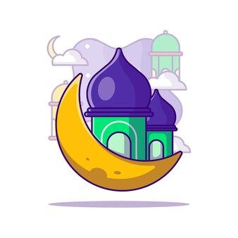 Ilustración de dibujos animados de ramadán kareem