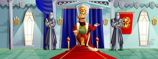 Ilustración de dibujos animados de sala de castillo