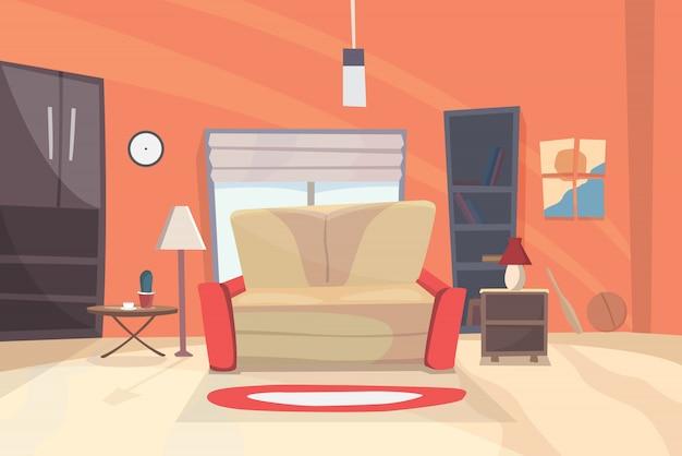 Ilustración de dibujos animados de sala de estar