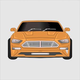 Ilustración de dibujos animados super coche ferary,