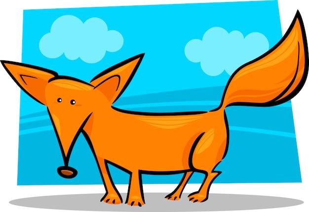 Ilustración de dibujos animados de zorro rojo