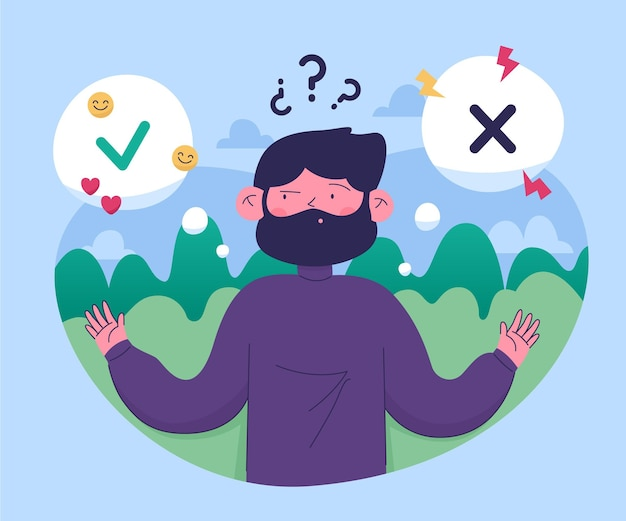 Ilustración de dilema ético