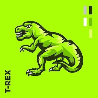 Ilustración de dinosaurio trex