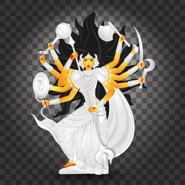Ilustración de la diosa durga maa