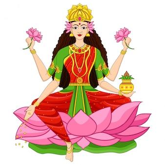 Ilustración de la diosa india