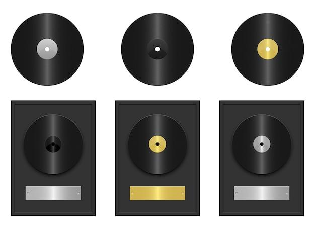 Ilustración de disco de registro aislado sobre fondo blanco.