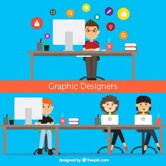 Ilustración de diseñadores gráficos
