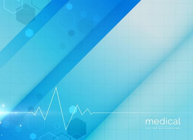 Ilustración de diseño azul de fondo médico