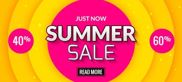 Ilustración de diseño de banner de venta de verano