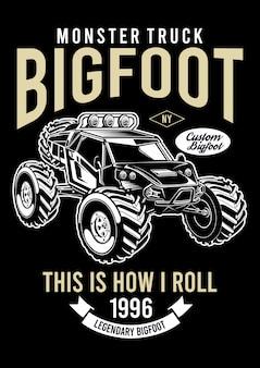 Ilustración de diseño de big foot