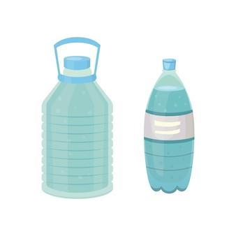 Ilustración de diseño de botella diferente en estilo de dibujos animados