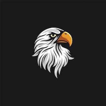 Ilustración de diseño de cabeza de águila