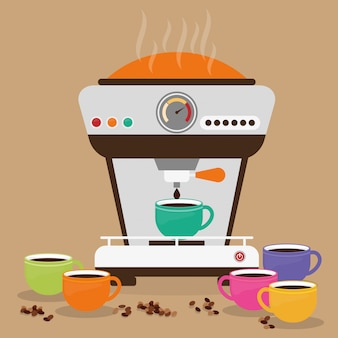 Ilustración de diseño de café