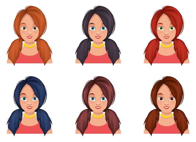 Ilustración de diseño de cara de mujer aislada
