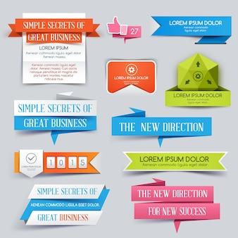 Ilustración de diseño de conjunto de banner de sitio web