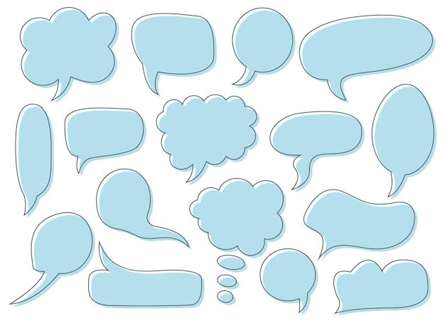 Ilustración de diseño de cuadro de chat aislado en segundo plano