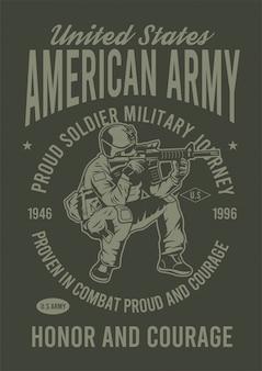 Ilustración de diseño del ejército americano